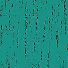 Turquoise Pattern Black Distressed Pattern  by IchGebWas