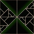 Deco Triangles Green by Eric Pauker