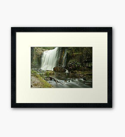 Guide Falls West Ridgley Framed Print