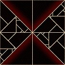 Deco Triangles Red by Eric Pauker