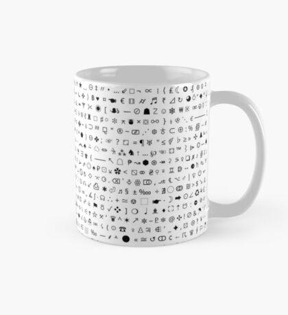 Esoteric symbols mug - Unicode special characters - black/white Mug