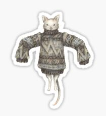 Sweater Puss T-Shirt Sticker