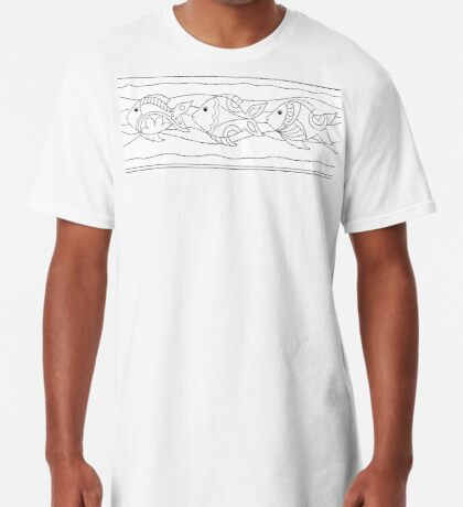 Just Add Colour - Funki Fish Border Long T-Shirt