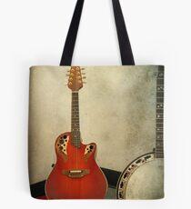 Mandolin and Banjo Tote Bag