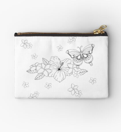 Just Add Colour - Tropical Butterfly Studio Pouch