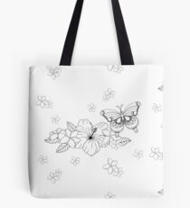 Just Add Colour - Tropical Butterfly Tote Bag