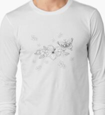 Just Add Colour - Tropical Butterfly Long Sleeve T-Shirt