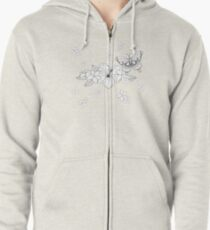 Just Add Colour - Tropical Butterfly Zipped Hoodie