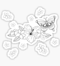 Just Add Colour - Tropical Butterfly Sticker