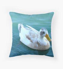 """""""The odd ball Duck"""" Throw Pillow"""