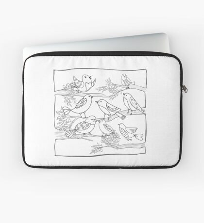 Just Add Colour - Birds of a Feather Laptop Sleeve