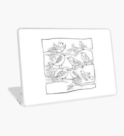 Just Add Colour - Birds of a Feather Laptop Skin