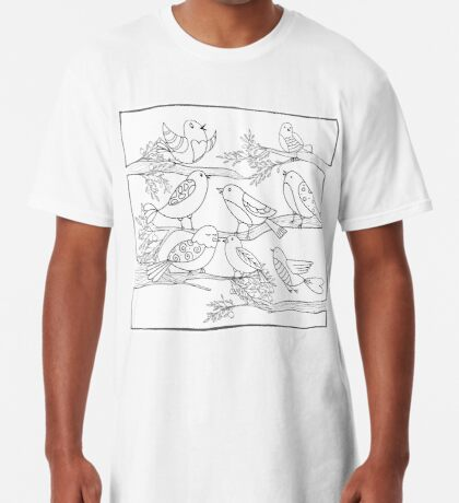 Just Add Colour - Birds of a Feather Long T-Shirt