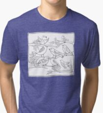 Just Add Colour - Birds of a Feather Tri-blend T-Shirt