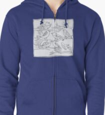 Just Add Colour - Birds of a Feather Zipped Hoodie