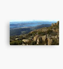 Hobart from Mt Wellingon Canvas Print