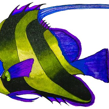 Odd yellow fish painting by marmur