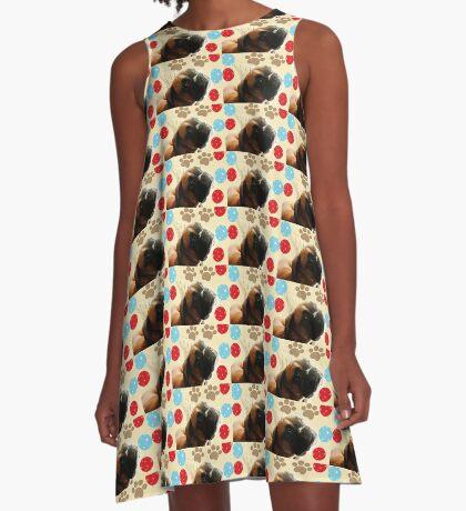 Schauen Sie, wer 1 - Boxer Dog Series ist A-Linien Kleid