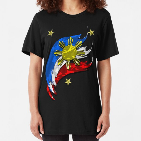 Philippine  Flag Slim Fit T-Shirt