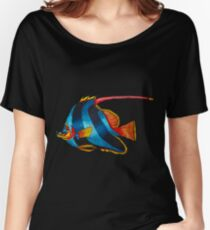 Odd blue fish painting Women's Relaxed Fit T-Shirt