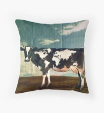 Surreal Bovine Atlas Throw Pillow