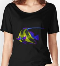 Odd yellow fish painting Women's Relaxed Fit T-Shirt