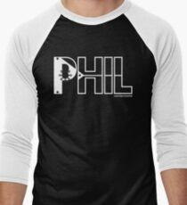 Phil T-shirt with white logo Baseball ¾ Sleeve T-Shirt
