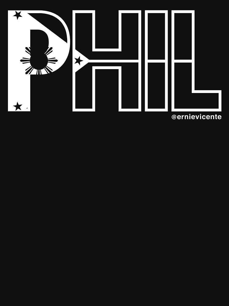 Phil T-shirt with white logo by ernievicente