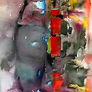 «abstracto con ventanas rojas» de Marianna Tankelevich