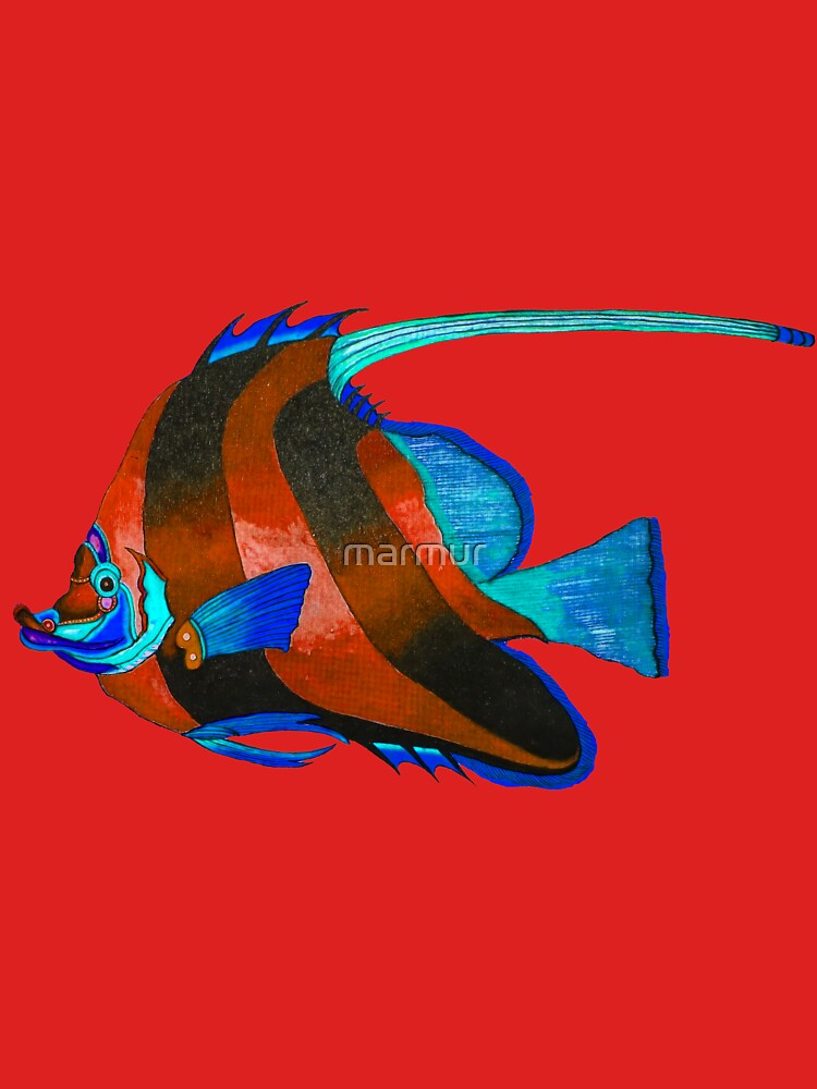 Red odd fish painting by marmur