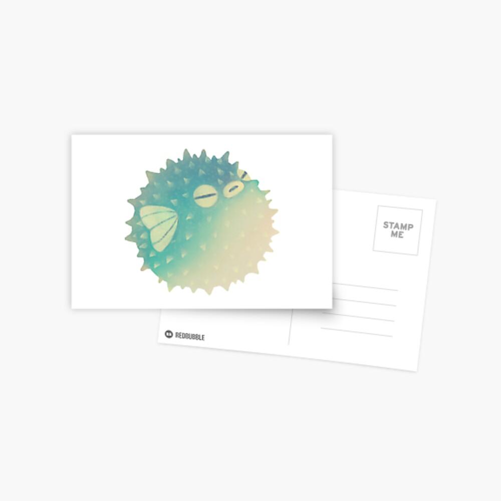 Hmph - Pufferfish Postcard