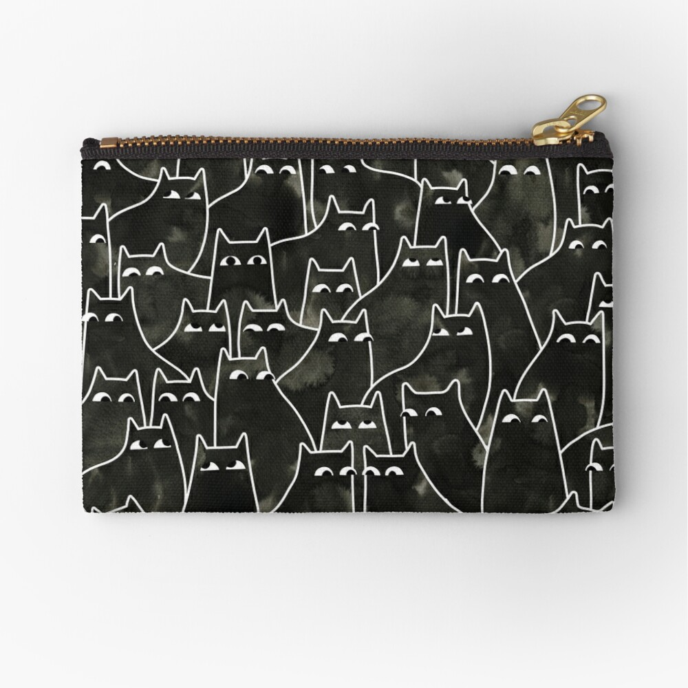 Suspicious Cats Zipper Pouch