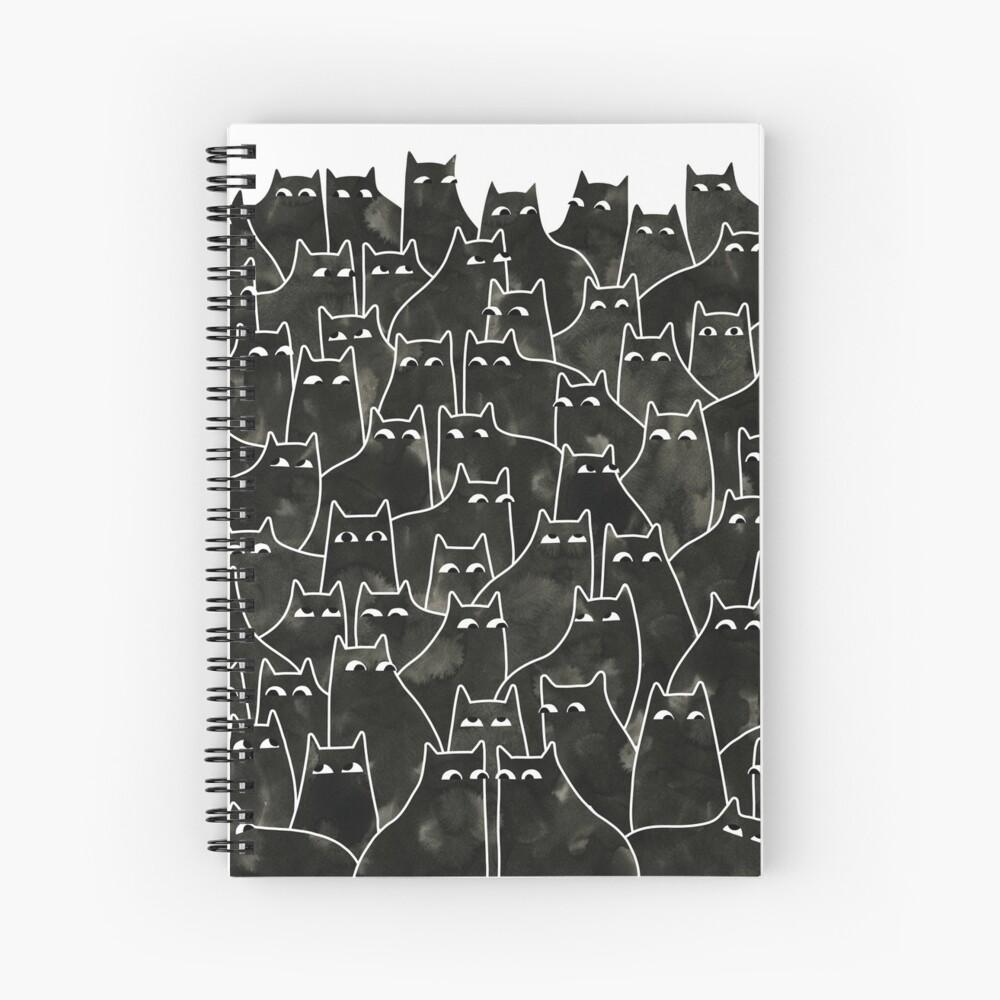 Suspicious Cats Spiral Notebook