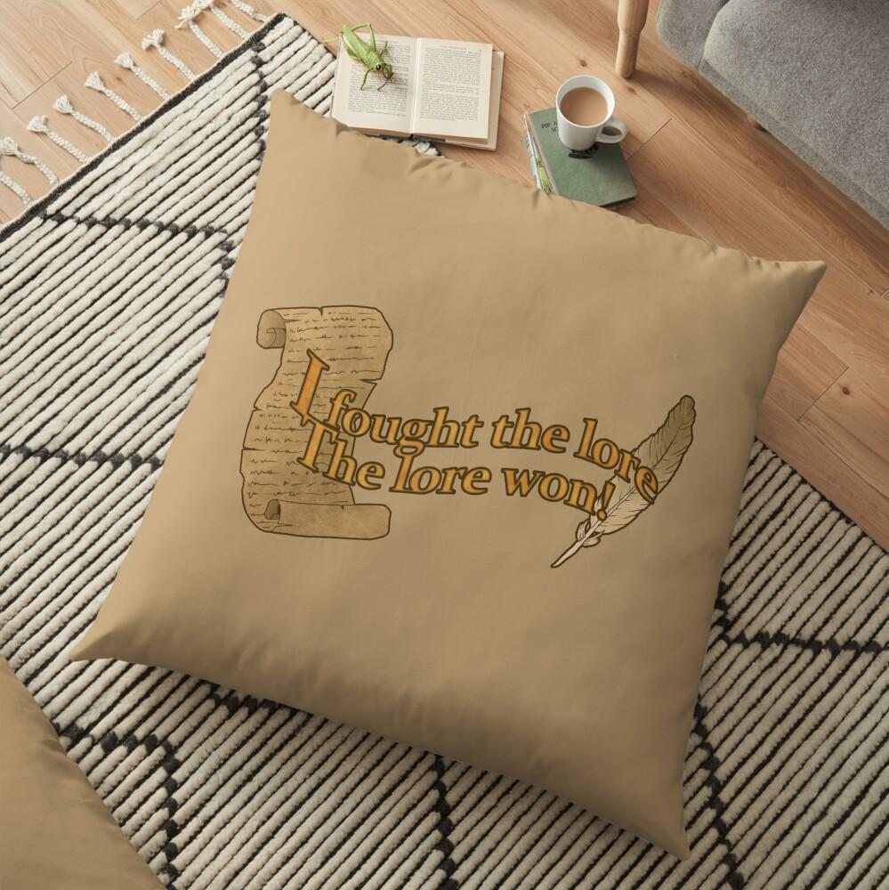 It's the Lore Floor Pillow