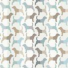 Spürhund silhouettiert Muster - natürliche Farben von XOOXOO