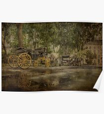 Textured carriages Poster