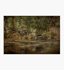 Textured carriages Photographic Print