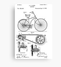 Bicycle patent from 1890 Canvas Print