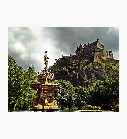 The Ross Fountain In Edinburgh, Scotland. Photographic Print