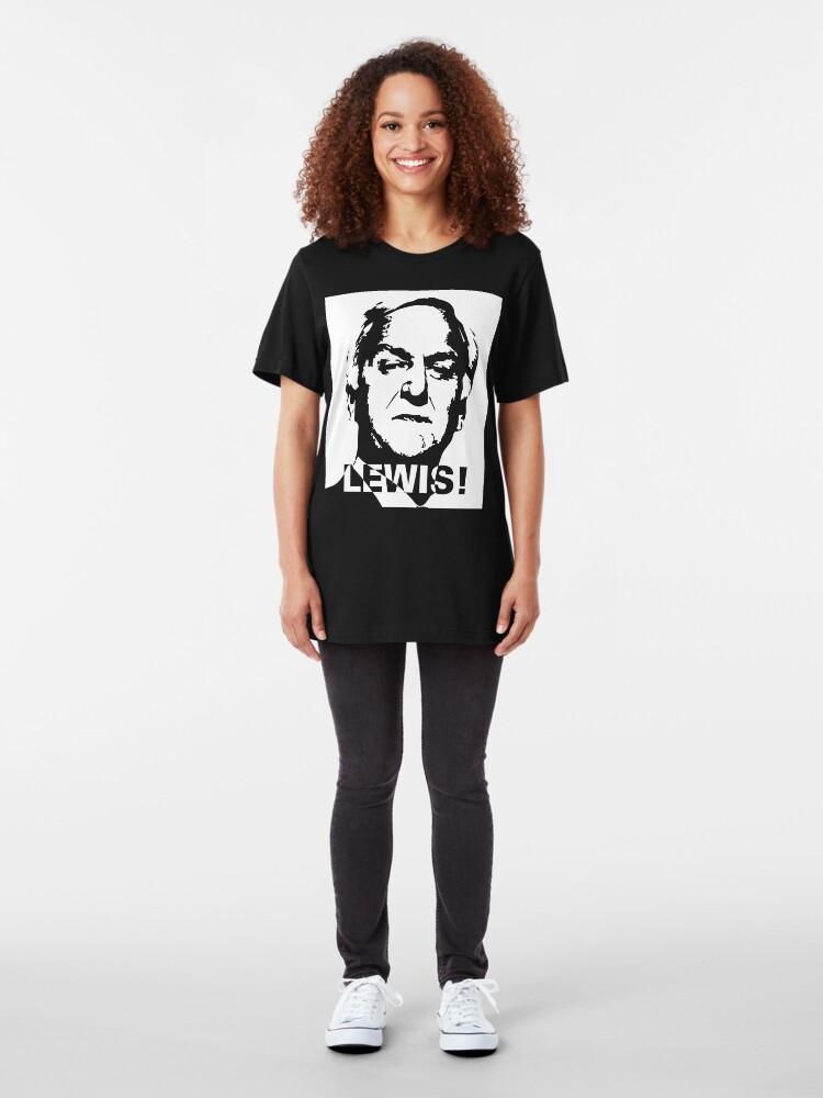 Alternate view of NDVH Morse (white print) Slim Fit T-Shirt