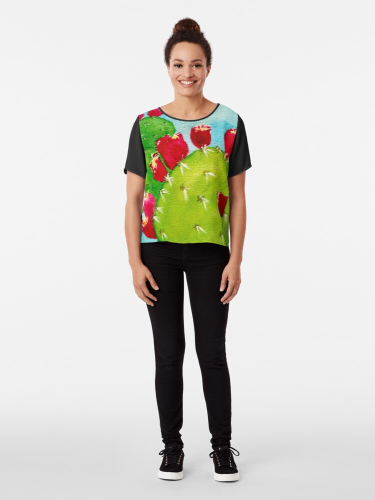 Alternate view of Prickly Pear  Chiffon Top