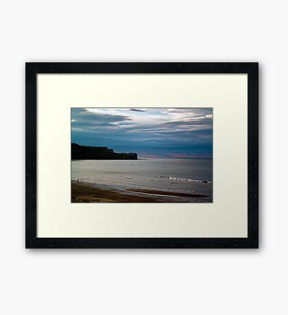 Evening at Sandsend Beach Framed Print