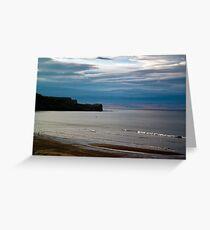 Evening at Sandsend Beach Greeting Card
