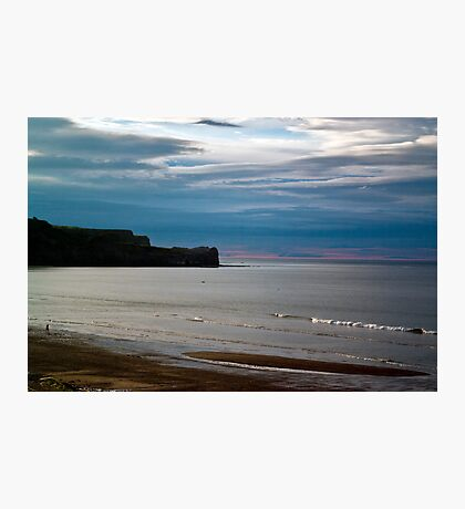 Evening at Sandsend Beach Photographic Print