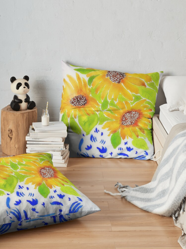 Alternate view of Sunflowers II Floor Pillow