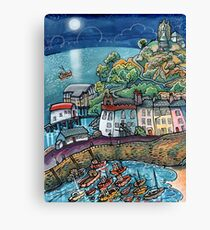 Summer Moonglow, Tenby Canvas Print