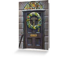 Sherlock Christmas 221 b Greeting Card
