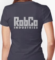 RobCo Women's Fitted V-Neck T-Shirt