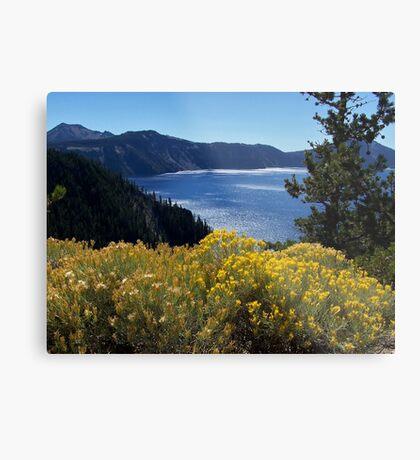 Fall glory at Crater Lake Metal Print
