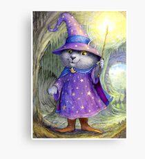 Purlin the Grey - wizard cat Canvas Print